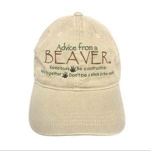 Advice from a Beaver baseball cap funny novelty